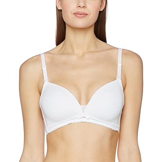 Dorina D17001A-Sujetador de Lactancia Mujer Blanco Blanco (White) 90B