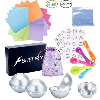SHEEFLY - Juego de moldes de metal de bombas de baño, para hacer bombas de baño, jabones hechos a mano y manualidades: Amazon.es: Juguetes y juegos