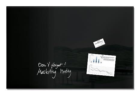 Sigel gl140 tableau magnétique en verre artverum 100 x 65 cm noir