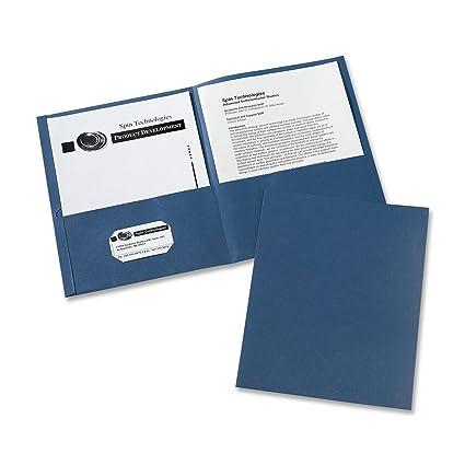 amazon com avery two pocket folders dark blue box of 25 47985