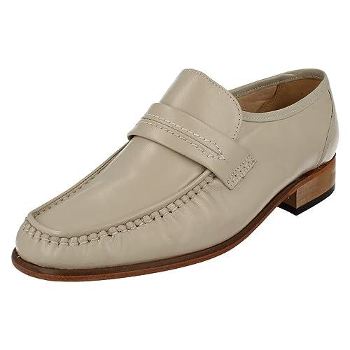e35f0782a544 Grenson Mens Moccasin Shoes Watford - Ivory Leather - UK Size 6G - EU Size  40