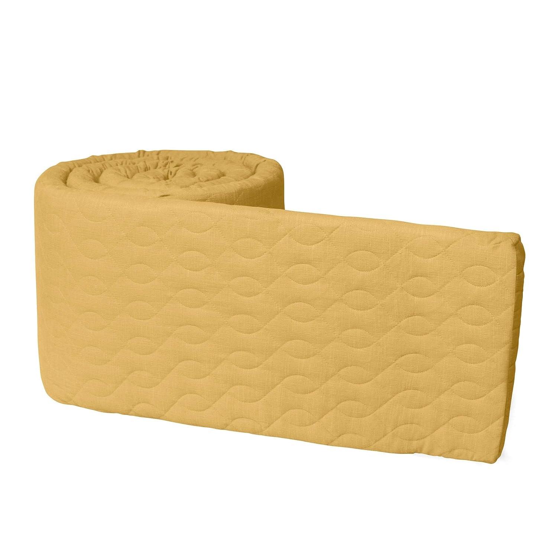 Sebra Bettnestchen f/ür Baby /& Juniorbett aus Baumwolle 345 x 3,5 x 30 cm Honiggelb