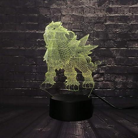 KangYD Pokemon Game 3D Rgb Lamp, LED Night Light, Colorful ...