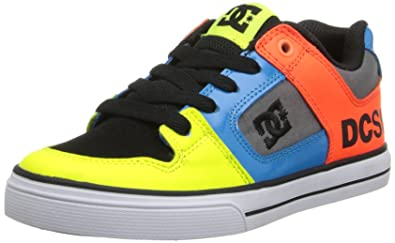 5f956fe611a9 DC Shoes Boys Shoes Pure - Low Shoes - Boys - US 7 - Yellow Neon