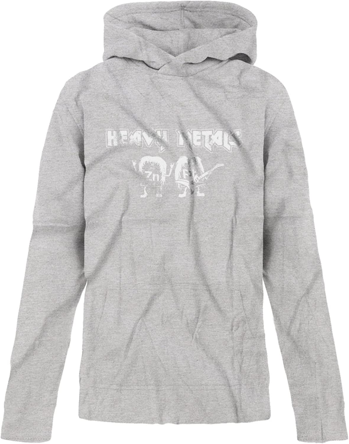 BSW Youth Girls Heavy Metals Periodic Table Horns Guitar Music Hoodie