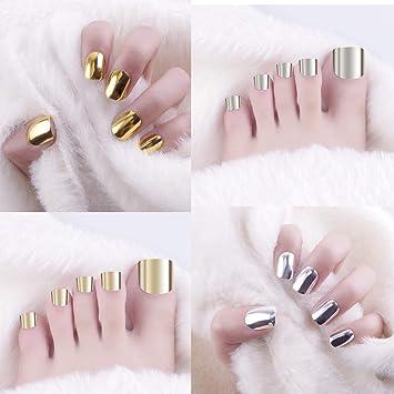 Amazon.com: SIUSIO - Juego de 96 uñas de dedo del pie falsas ...