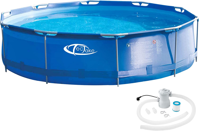 TecTake 800580 Piscina Desmontable, Swimming Pool, Tejido de PVC, Construcción Robusta, Fácil Montaje, Compacta - Disponible en Varios Modelos (Tipo 3 | No. 402896)