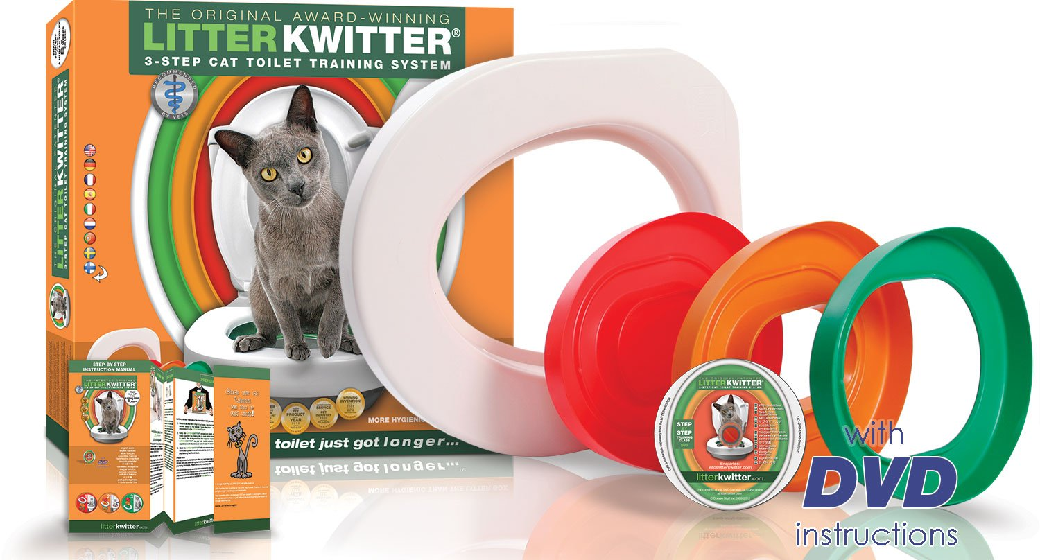 Cat Toilet Training System By Litter Kwitter - Teach Your Cat to Use the Toilet - With Instructional DVD by Litter Kwitter