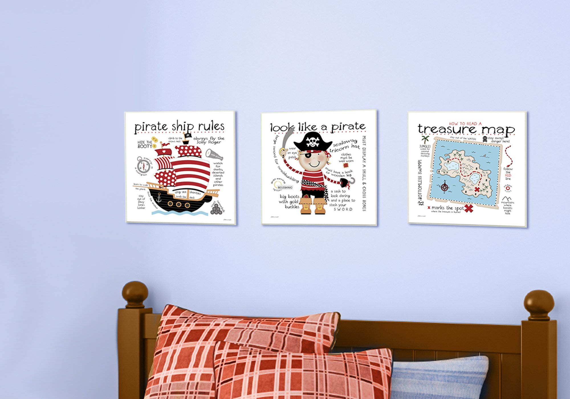 Stupell Home Décor How to Read Treasure Map Wall Plaque Art, 12 x 0.5 x 12, Proudly Made in USA by The Kids Room by Stupell (Image #2)