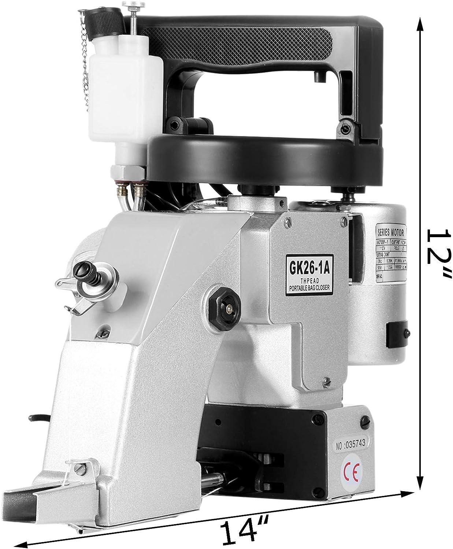 VEVOR Máquina de coser eléctrica portátil de 110 V, 90 W ...