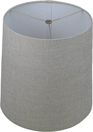 FenchelShades.com Lampshade 13 Top Diameter x 15 Bottom Diameter x 15 Slant Height with Washer Spider Attachment for Lamps with a Harp Natural