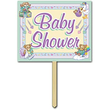 Amazon Baby Shower Yard Sign Party Accessory 1 Count Kitchen