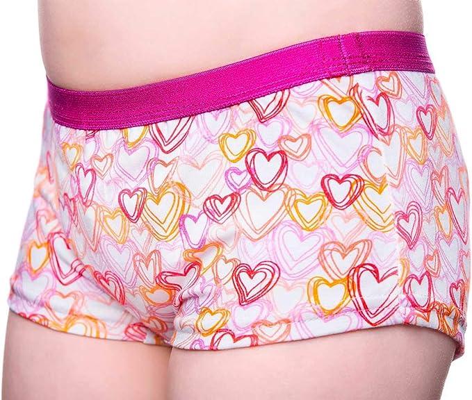 Dry Cool Tages Inkontinenzslip Fur Madchen Unterwasche Waschbar Absorbierende Einlage Hearts Amazon De Bekleidung
