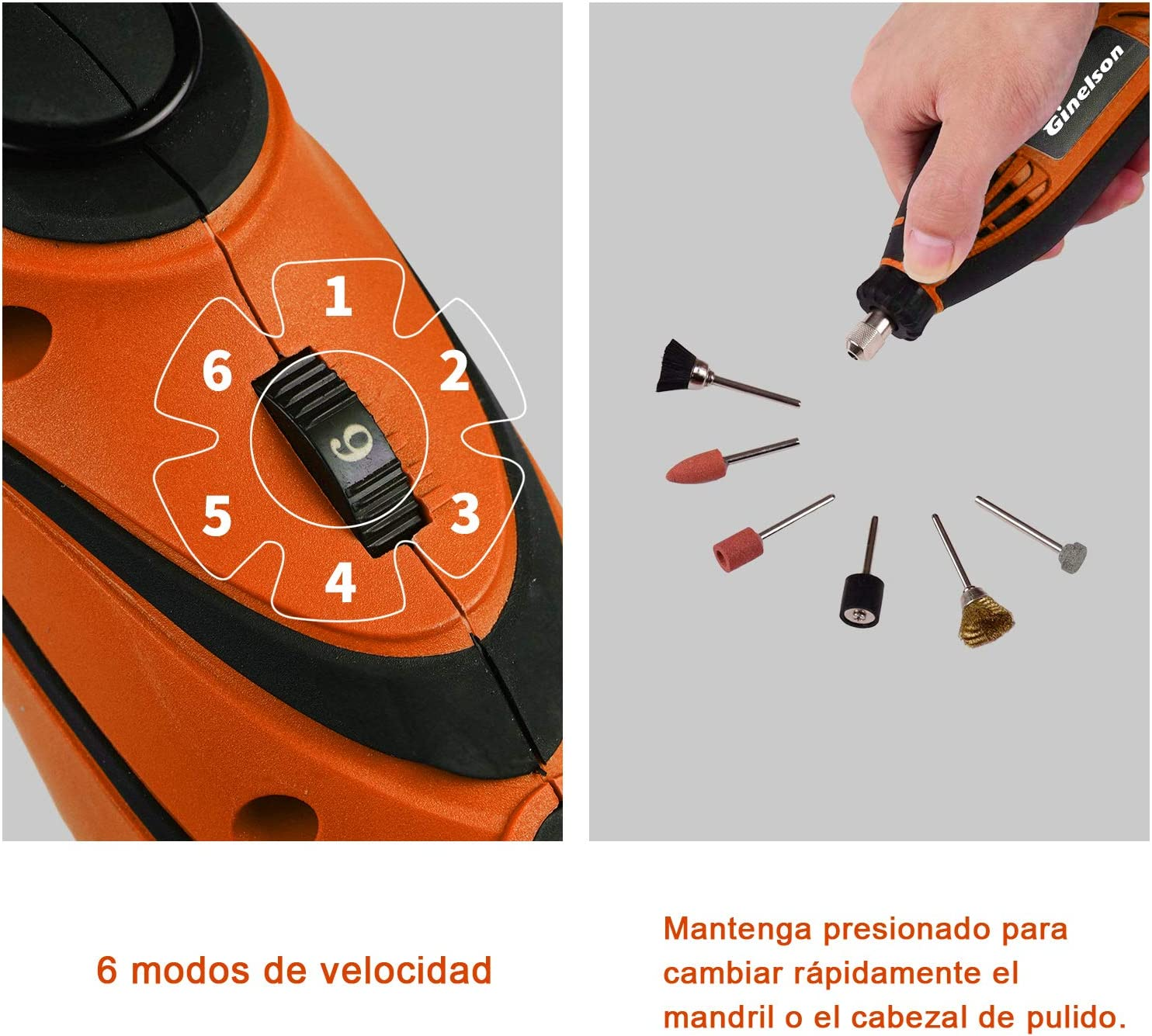 Mini Amoladora Eléctrica, Ginelson Herramienta rotativa ...