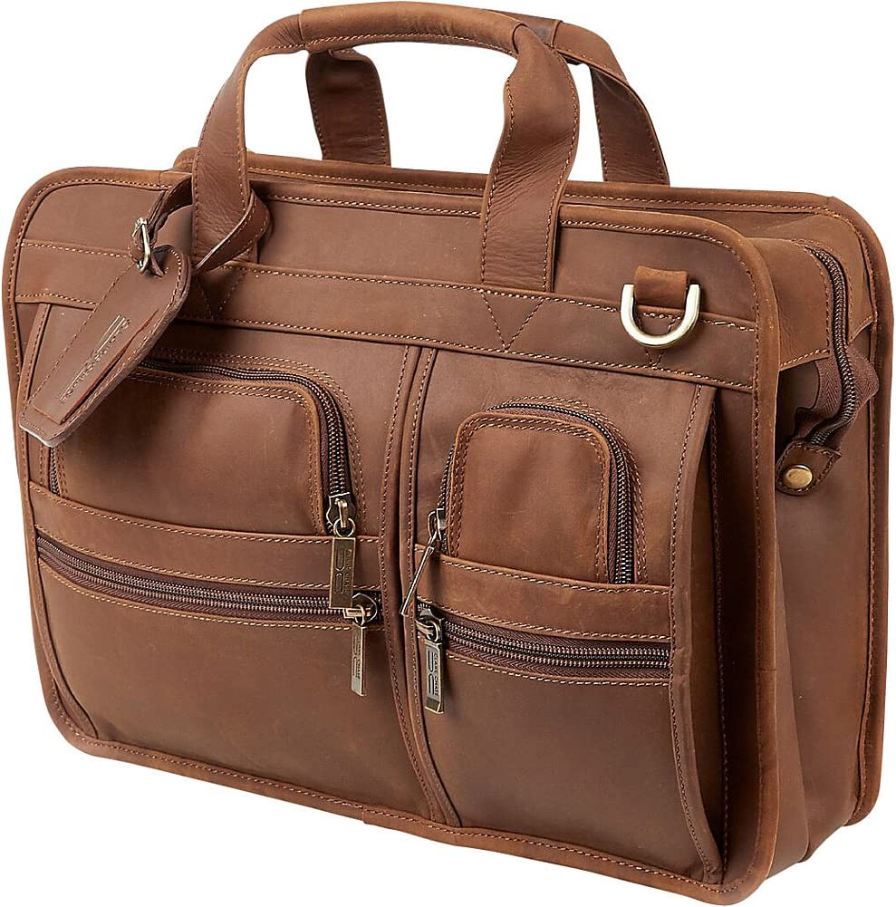 ClaireChase Slimline Executive Briefcase Rustic