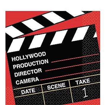 Amazon.com: Servilletas de papel de recuerdo de Hollywood en ...