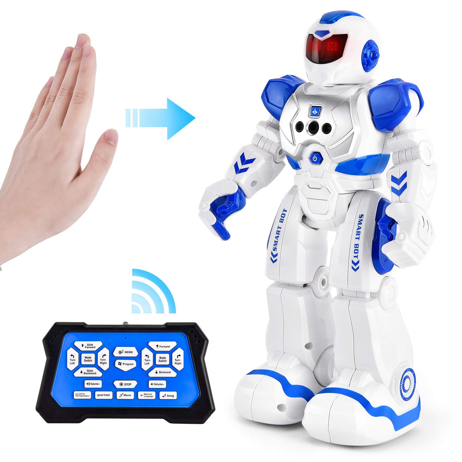 Rainbrace Smart Robot Toys Remote Control Robot,RC Robot for Kids,Robotic Toys for 4 5 6 7 8 Years Old Boys Girls Kids Birthday Gift (Blue) by Rainbrace (Image #1)