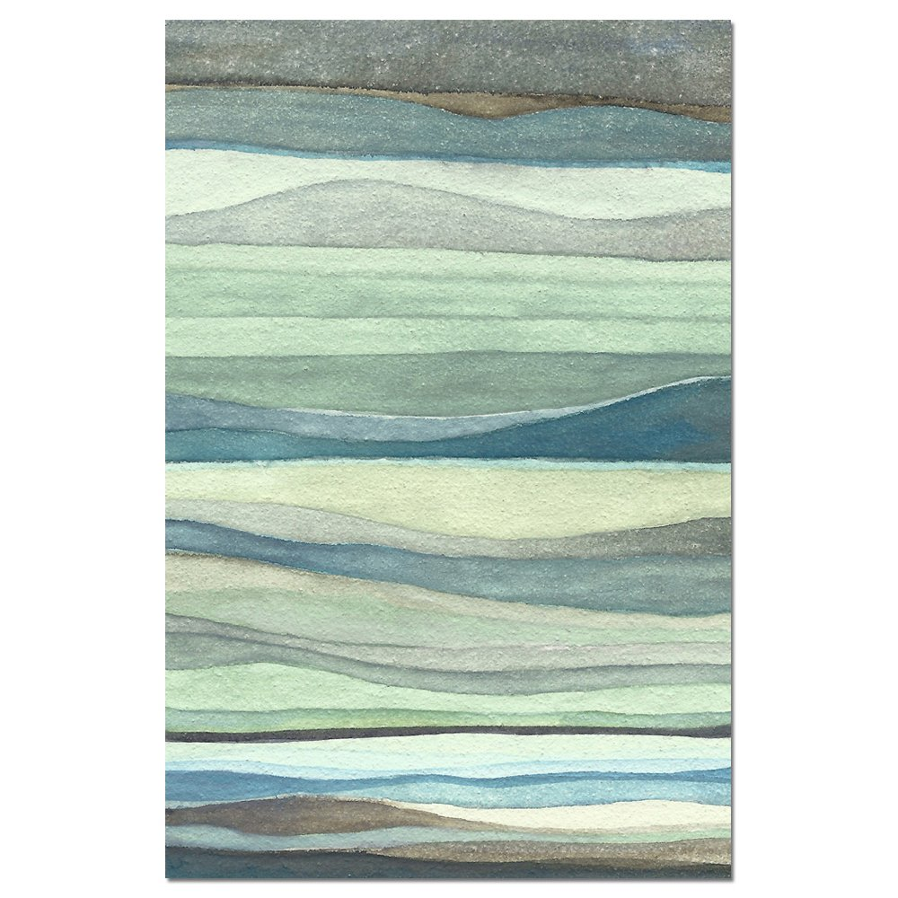 Tree-Free Greetings Eco Notes 12 Count Notecard Set with Envelopes, 4x6 Inches, Watercolor Waves Themed Shel Rummell Art (66479) FS66479