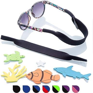 NEW Kids Childrens Boys Camouflage Glasses Sunglasses Neoprene Strap Holder