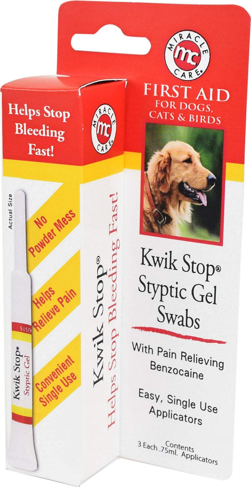 Miracle Care Kwik Stop Styptic Gel Swabs 75mL by Miracle Care