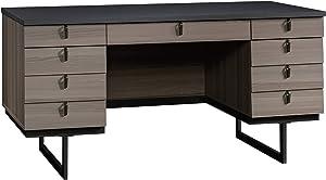 "Sauder International Lux Executive Desk, L: 60.0"" x W: 28.98"" x H: 30.0"", Diamond Ash"