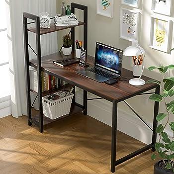 Vadim Computer Desk with Shelves