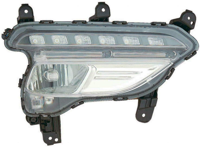 for 2013 2016 Hyundai Santa Fe Left Driver Fog Lamp Bezel BLK 13 14 15 16  LH