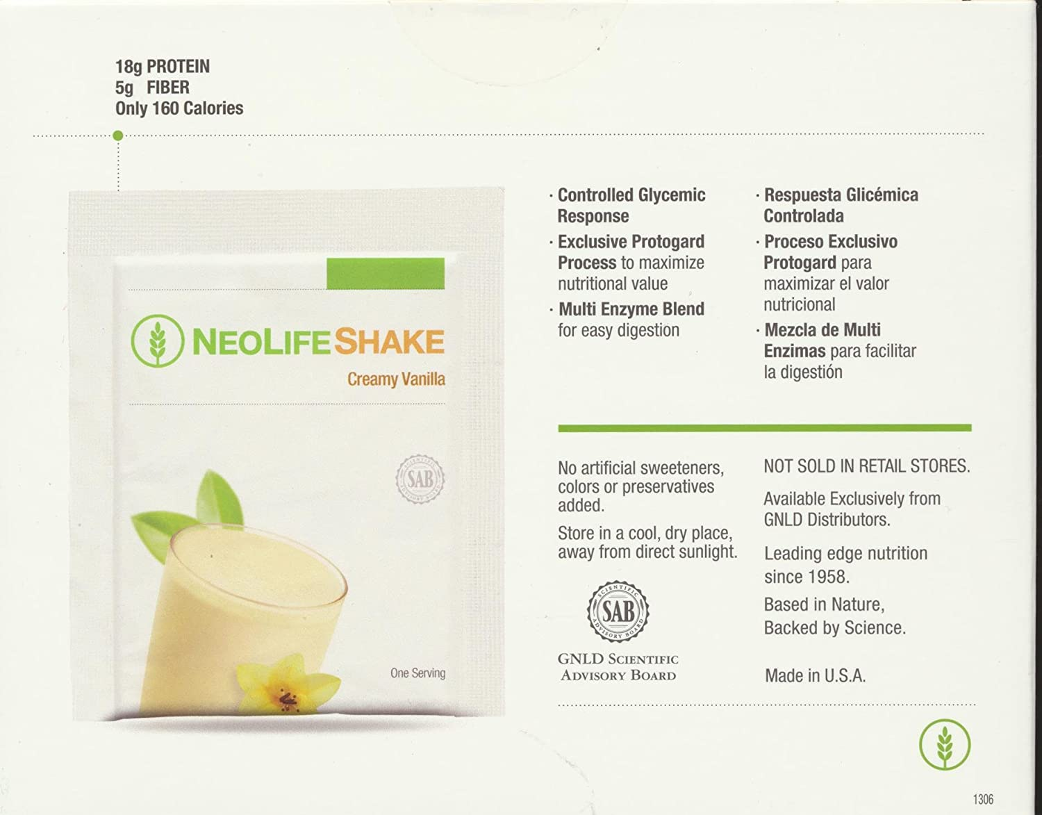 Amazon.com: Neolifeshake Creamy Vanilla Box of 15 Packets ...