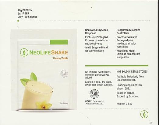 Amazon.com: Neolifeshake Creamy Vanilla Box of 15 Packets ...