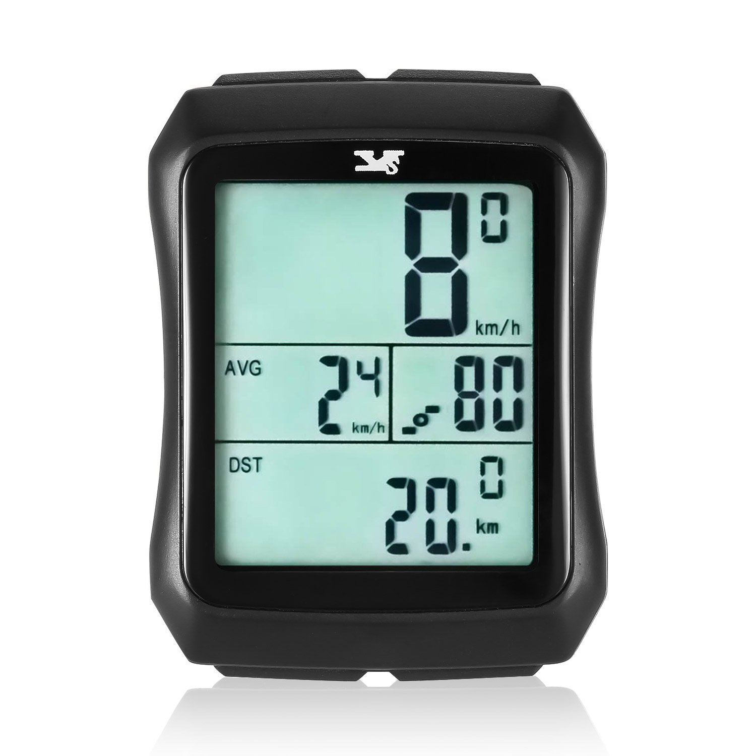 Sospers Bike Computer Waterproof, Wireless Speedometer Cadence, Bicycle Odometer Multi-function Large Screen LCD Display