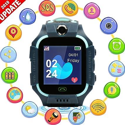 AARRM Teléfono del Reloj del GPS, los niños de Pantalla táctil ...