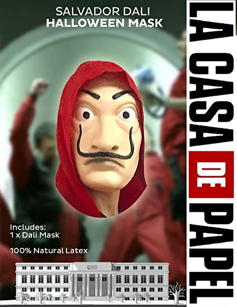 Dali Mask Salvador LA CASA De Papel | Money Heist | Realistic Movie Prop Face Mask