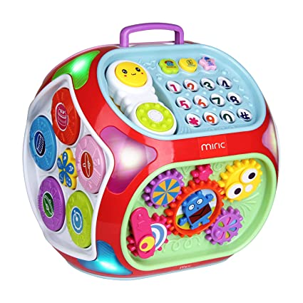 Amazon Com Miric Baby Activity Cube Center House 7 In 1 Electronic