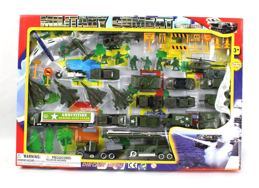 Metro Army Military Combat 43 Piece Mini Toy Diecast