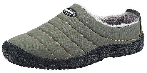 4bec2ddc564091 YOOEEN Hiver Pantoufles Chaud Peluche Intérieur Maison Chaussons  Imperméables Respirante Coton Chaussures d'intérieur et