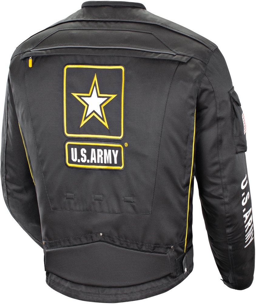 US Army Alpha-X - Mens' Textile Motorcycle Jacket - Black - Large