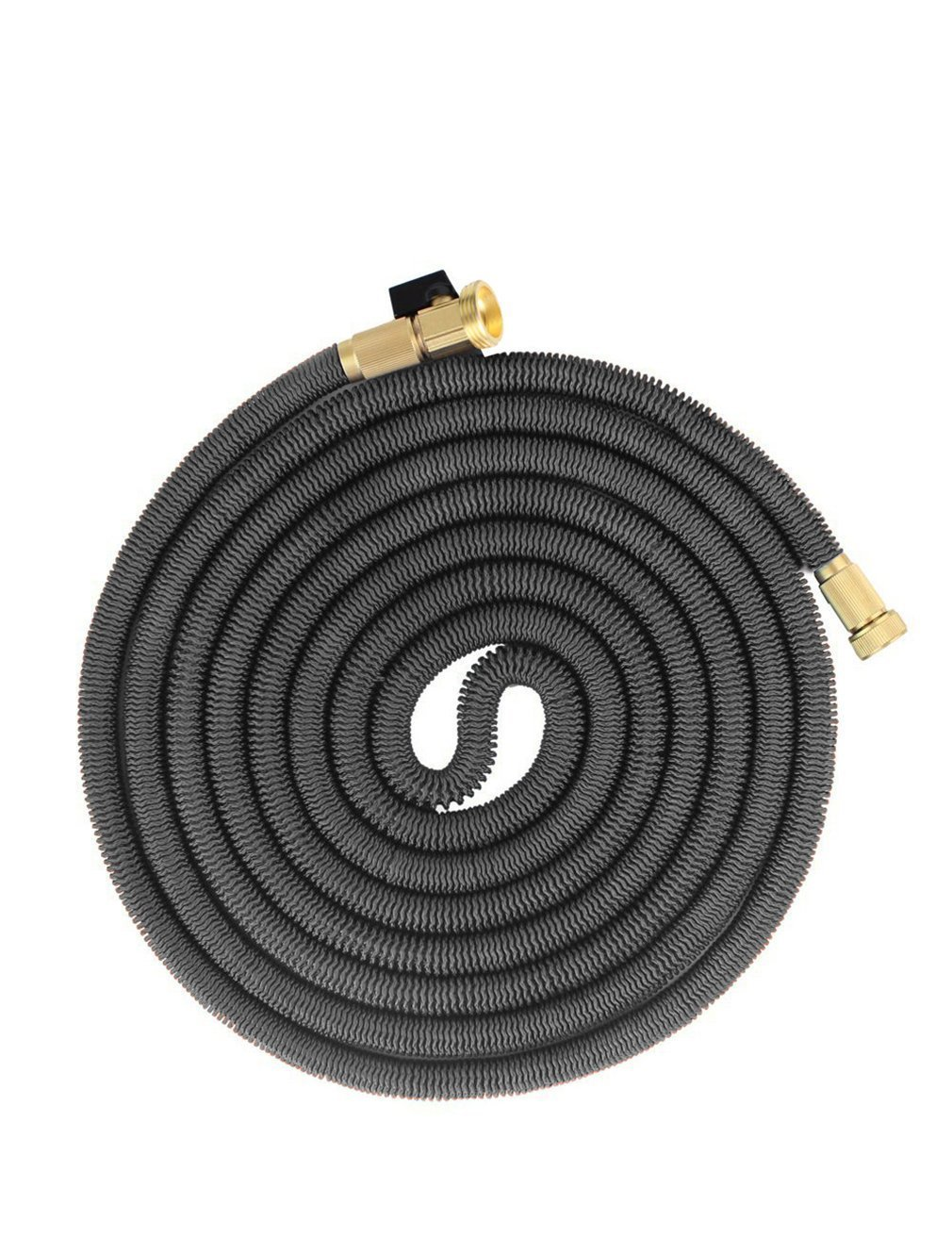 iZEEKER New Design in 2016,Three Times Expandable 50 Feet Magic Hose,Washing Car Hose ,Strongest Expandable Garden Hose ,Solid Brass Ends, Double Latex Core, Extra Strength Fabric (Black)