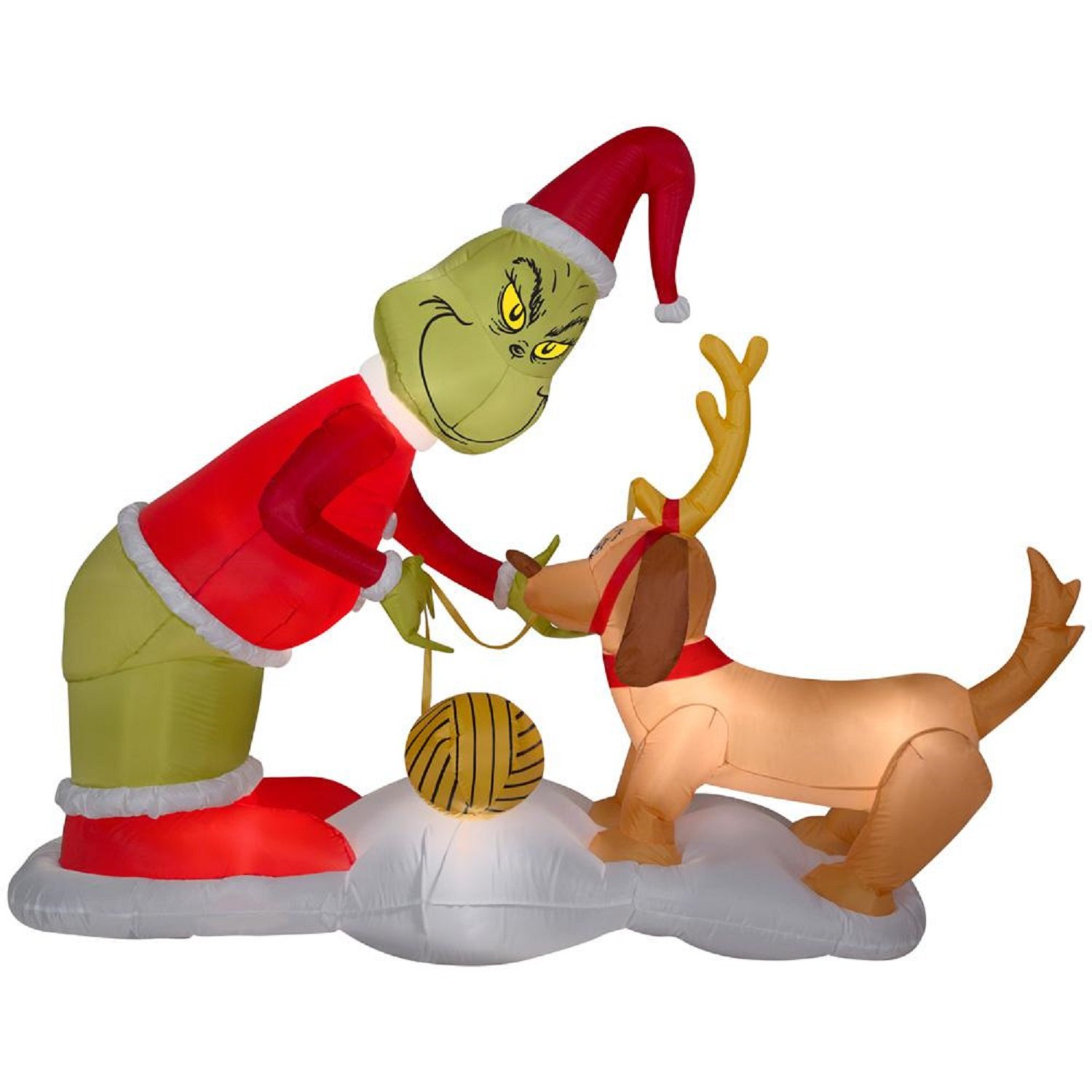 Amazon.com: Christmas Inflatable The Grinch & Max Dr Suess Airblown ...