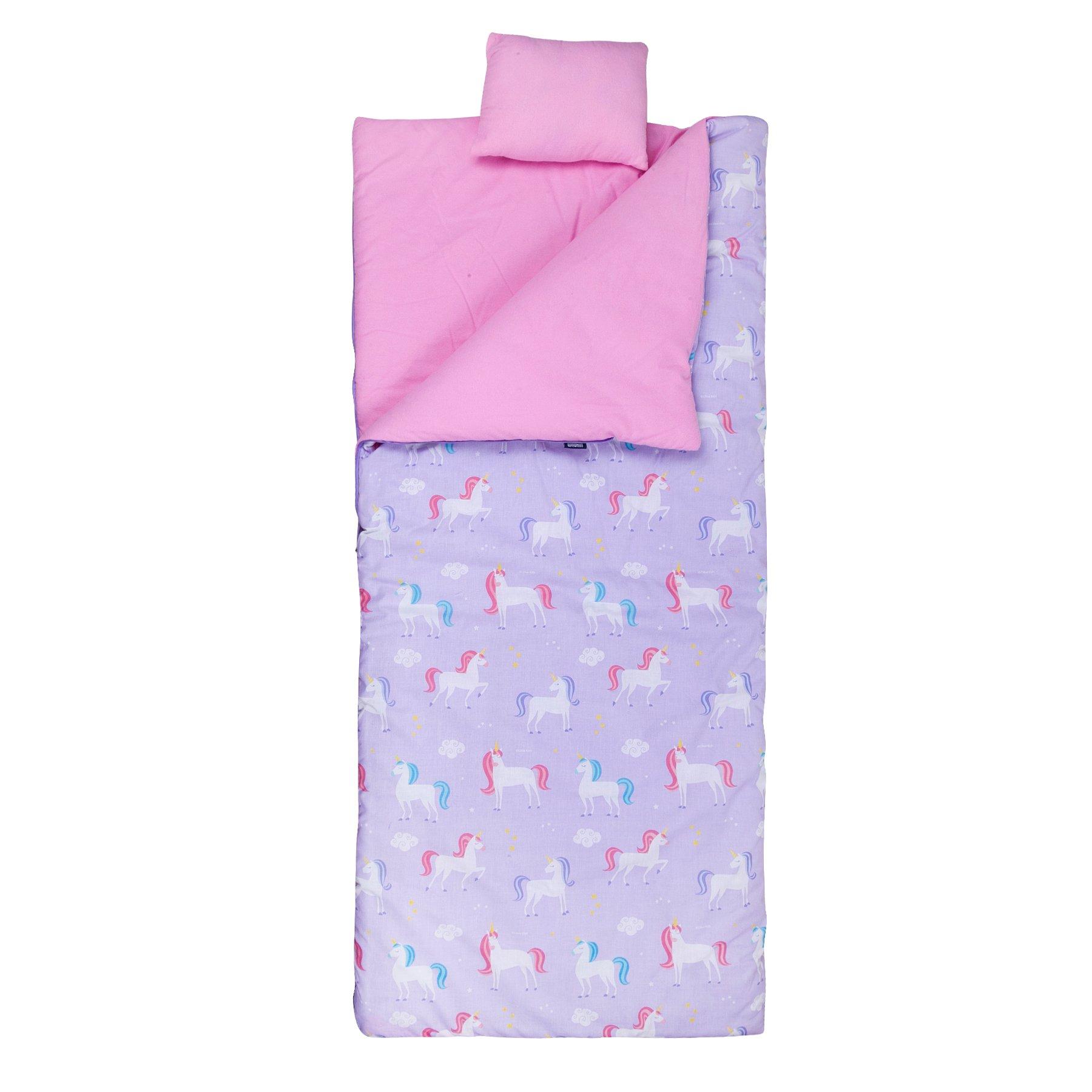 Wildkin Original Sleeping Pillowcase & Storage Bag, Premium Cotton & Microfiber Blend Exterior, Ages 5-12, Unicorn