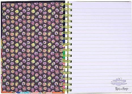 Appunti originali di carta per diario con copertina rigida Wiro Hardy Portal A5 di Rick and Morty