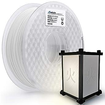 AMOLEN Impresora 3D Filamento 1.75mm, PETG Blanco con función de ...
