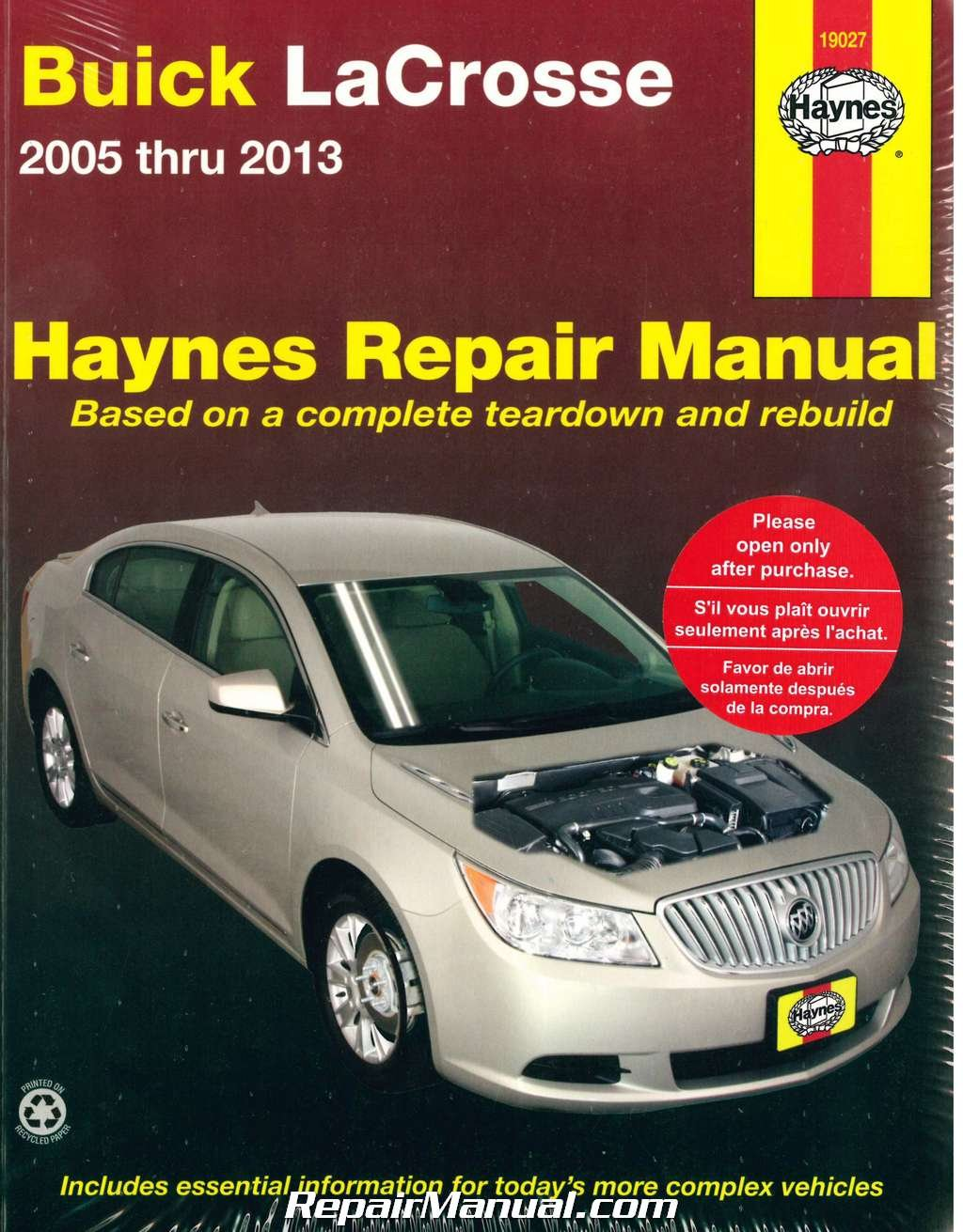 H19027 Buick LaCrosse 2005 - 2013 Haynes Repair Manual: Manufacturer:  Amazon.com: Books