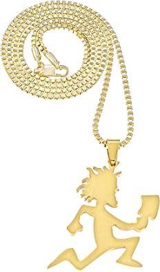 Skateboard  Necklace New Iced Out Pendant 24 Inch Box Link Style 2mm Wide Chain