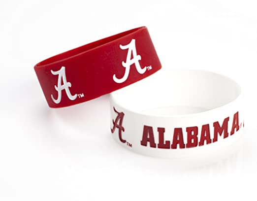 5 x 2 NCAA Alabama Crimson Tide Heart-Charm Bracelet