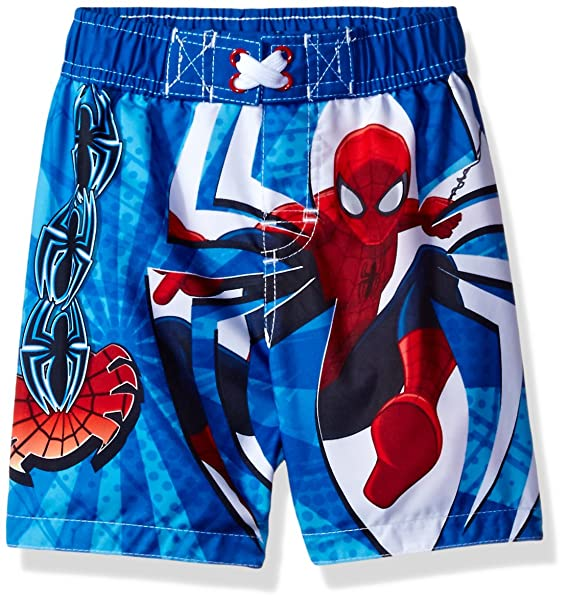 478dc4acaa95a Amazon.com  Marvel Toddler Boys  Spiderman Swim Trunk  Clothing