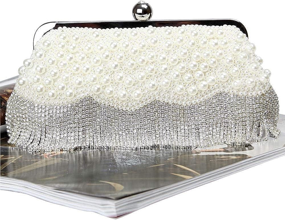 HORHIN Women Artificial Pearl Evening Clutch Party Luxurious Handbags