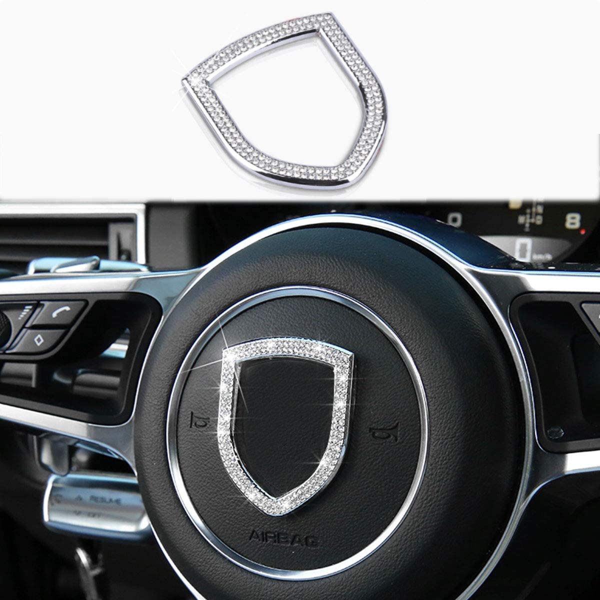 Luster Crystal Diamond Car Decor Accessories for Women Bling Bling Colorful Crystal Rhinestones Car Seat Belt Shoulder Pads