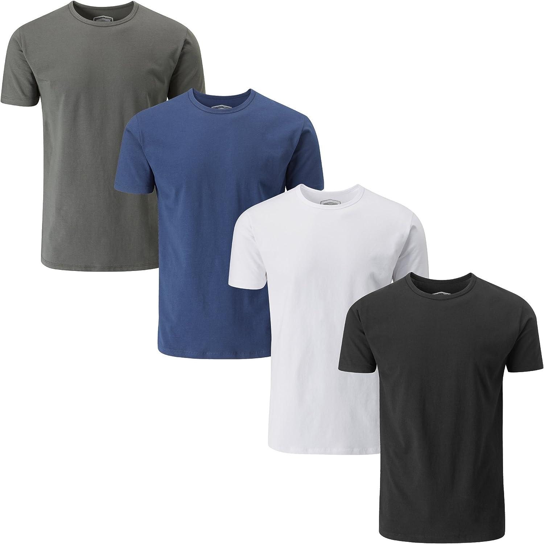 Charles Wilson Paquete 4 Camisetas Elásticas Elastano Cuello Redondo