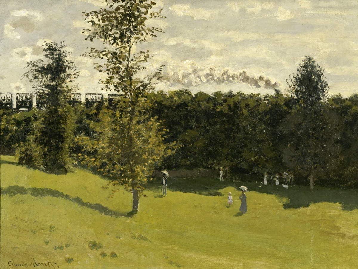 Claude Monet Gicl/ée Toile Imprimer Peinture D/écoration Reproduction Affiche Print Beau Temps /à /Étretat