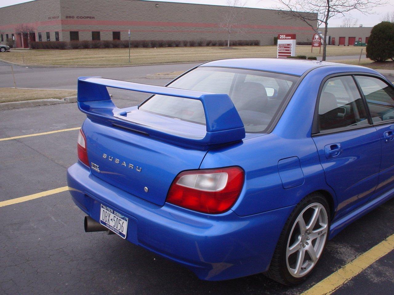 JSP Rear Wing Spoiler Compatible with 2000-2007 Subaru Impreza WRX STI Factory Style Primed 333010